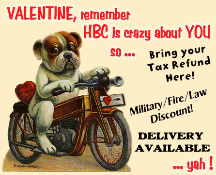 motorcycle for valentines